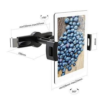 Surface Samsung Galaxy und Mehr 4.7-12.9 inch Tablet PCs IBRA iPad Auto Halter,Auto Kopfst/ütze Montieren mit 360 Grad Drehung zum iPad Air//Pro