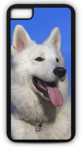 iPhone 8 Plus 8+ Case Swiss Shepherd Dog Berger Blanc Suisse Canine Puppy Customizable by TYD Designs in Black Plastic Black Rubber Tough Case