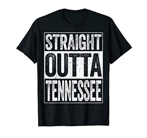 - Straight Outta Tennessee T-Shirt TN State Gift Shirt