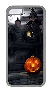 iPhone 5C Case,iPhone 5C Cases Halloween Castle TPU Silicone Back Cover Case for iPhone 5c - Transparent