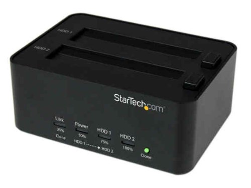 StarTech.com USB 3.0 to 2.5/3.5in SATA Hard Drive Duplicator Docking Station - HDD / SSD Duplication - Standalone