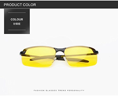 conduire pêche réduisant lunettes le OGOBVCK de de façon Black sécurita la de pour sécurité lunettes polarisée pour nuit hd nuit meilleure antireflet nuit des de conduite vision de risque de conduite ZZv1F