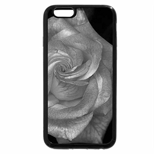 iPhone 6S Plus Case, iPhone 6 Plus Case (Black & White) - Sharing This Rose Beauty