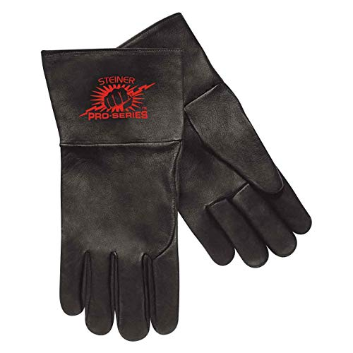 Premier Unlined Gloves - Steiner 0266-L SPS TIG Gloves, Premium Grain Kidskin Unlined 4-Inch Cuff, Large