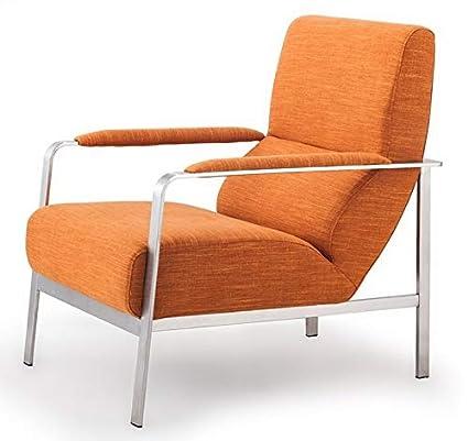 Groovy Amazon Com Mikash Modern Accent Arm Chair In Sunkist Orange Machost Co Dining Chair Design Ideas Machostcouk