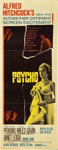 Psycho Movie Poster Insert 14x36 Hitchcock