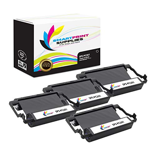 (Smart Print Supplies Compatible Brother PC201 Black Ribbon Cartridge for Intellifax 1170 1270 1270E 1570MC 1575MC, MFC 1770 1780 1870MC 1970MC Printer 5M Characters (4 Pack))