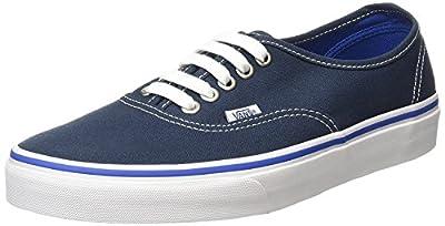 Vans Mens Authentic Core Classic Sneakers (35 M EU / 4 D(M) US, Midnight Navy/True White)