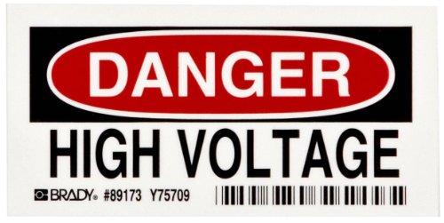 Brady Admittance Legend Danger Voltage