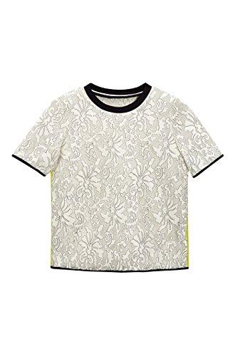 next Mujer Camiseta Encaje Regular Top Ropa Crudo