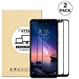 "KTTWO Redmi Note 6 Pro Screen Protector, (2PACK) Full Cover Anti-Scratch Bubble-Free Tempered Glass Screen Protector Full Glue Redmi Note 6 Pro 6.26""(Black)"