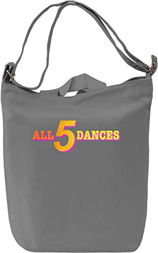 All 5 Dances Borsa Giornaliera Canvas Canvas Day Bag| 100% Premium Cotton Canvas| DTG Printing|