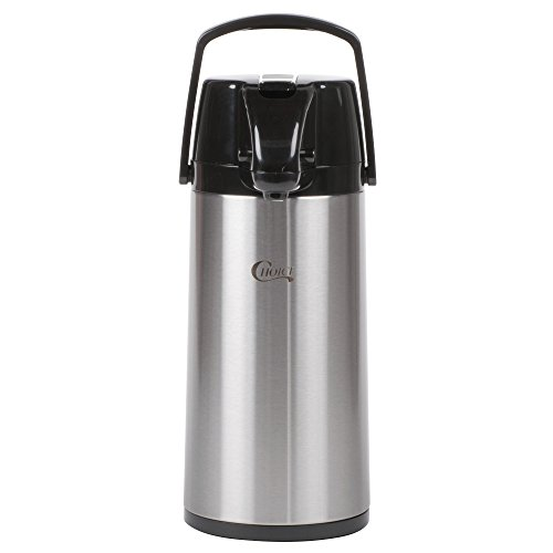 (Choice 1.9 Liter Glass Lined Stainless Steel Airpot with Lever)