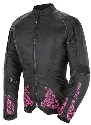 Joe Rocket Heartbreaker 3.0 Women's Textile Motorcycle Jacket (Black/Pink, Medium)
