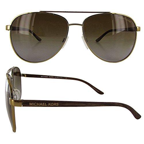ccf1f6d0673f5 Michael Kors HVAR MK5007 Sunglasses 1043T5-59 - Gold Wood - Import ...