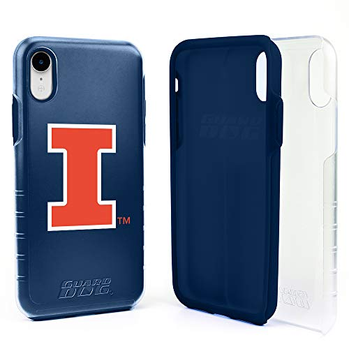 Guard Dog Illinois Fighting Illini Hybrid Case for iPhone XR - Clear with Dark Blue