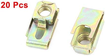 uxcell Car Clip Fog Lamp Metal License Plate Screw Base Lock 20Pcs