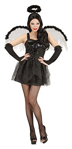 Ladies Black Angel Costume Medium Uk 10-12 For Halloween Fancy Dress]()