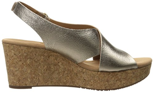 Gold Eirwyn Annadel Clarks Metalic Lea Wedges Women's pgzZwZqO