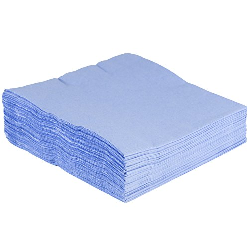 JAM PAPER Medium Lunch Napkins - 6 1/2 x 6 1/2 - Pastel Blue - ()