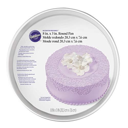 Wilton Aluminum Round Cake Pan, 8 x 3-Inch