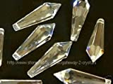 5 pieces Clear 38mm x 15mm Pencil Shape Prisms 30% lead Crystals for Chandelier, Ceiling Lights, Christmas Tree, Wedding Tree, Feng Shui, Window Display ... etc..
