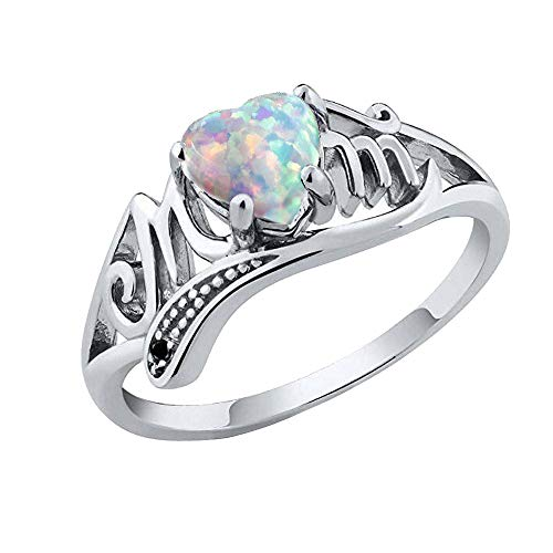 FEDULK Rings Best Gift for Mother Party Love Mum Diamond Heart Colourful Ring Jewelry(Multicolor, 8)