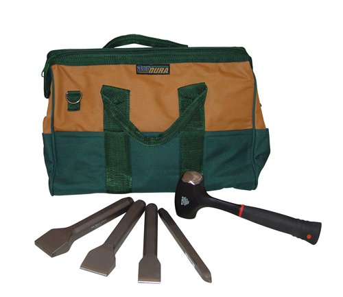 Bon 11-906 Complete Stone Mason Carbide Chisel Set in Tool Bag