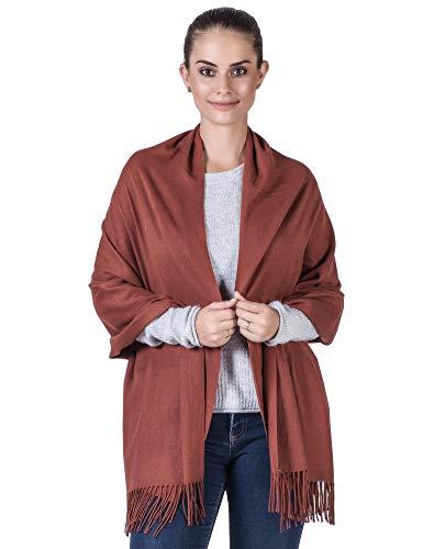 Niaiwei Cashmere Scarf Blanket Large Soft Pashmina Shawl Wrap For Men and Women (Caramel) by Niaiwei