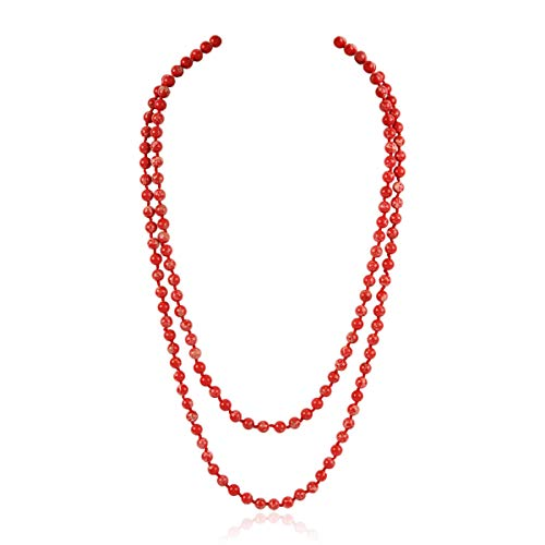 Necklace Red Coral Strand - Bead Strand Versatile 60