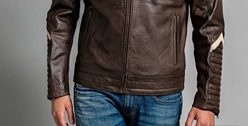 tama/ño L Ontorio Marr/ón Urban Leather UR-333 Simon Chaqueta de Caballero