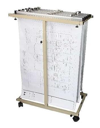 mobile vertical plan center for blueprints plans sand beige with 12