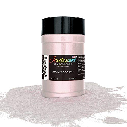 U.S. Art Supply Jewelescent Interference Red Mica Pearl Powder Pigment, 2 oz (57g) Shaker Bottle - Cosmetic Grade, Non-Toxic Metallic Color Dye - Paint, Epoxy, Resin, Soap, Slime Making, Makeup, Art
