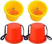 BESPORTBLE 2 Pairs Bucket Stilts Plastic Balancing Stilts Walking Cups Stepper Toy Walking Stilts for Kids