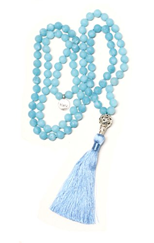 Frosted Bead Necklace - 7