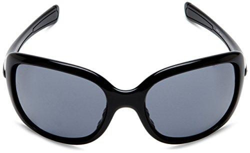 Oakley Women's Necessity Sunglasses (Polished Black Frame/Grey Lens)