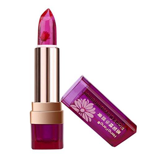 Lipstick Pink Daisy - Fenleo Long Lasting Lip Gloss Color Changing Flower Jelly Beauty Lipstick Moisturizing (Hot Pink)