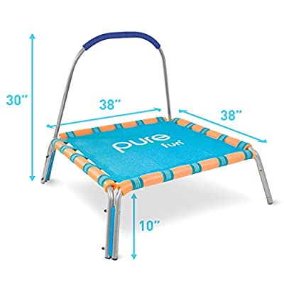 Pure Fun 38-inch Kids Jumper Bungee Trampoline with Handrail, Ages 3 To 7 : Sports & Outdoors