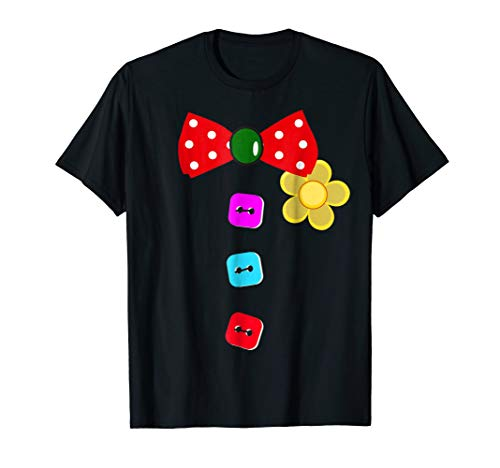 Halloween Clown T-Shirt Tie Costume For Man Woman And Kids ()