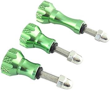 MaximalPower CA GP CNC Screw Pack of 3 GR Green CNC Aluminum Thumb Knob Bolt Nut Screw Kit for GoPro Hero 4//3+//3//2//1