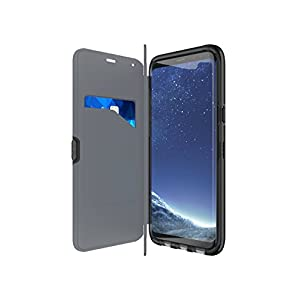 tech21 - Phone Case Compatible with Samsung Galaxy S8+ - Evo Wallet - Black