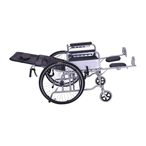- Ho,ney Wheelchair Multi-Function Full Reclining Wheelchair Folding Half Lying Old Man Scooter Thick Steel Tube Wheelchair with Toilet -98749 Wheelchair (Shape : C)