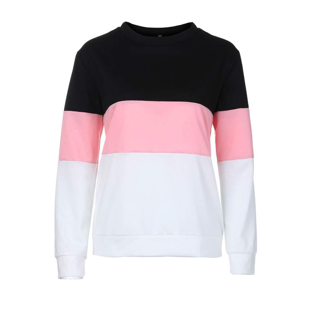 Sweatshirt CIELLTE Femme Manches Longues 2018 Mode Pull Multicolore Patchwork Hoodies Couleur Unie Automne Hiver T-Shirt Chic Basic Décontractée Fashion,Cool