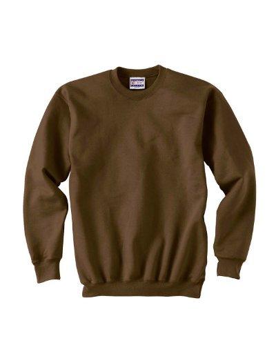 Hanes Men's Ultimate Cotton Fleece Crew Sweater, Dark Chocolate, L US