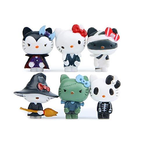 Doc&Good Inc. Kawaii 6 pcs/Set Hello Kitty Figure Cartoon Toys Girls Set Cute Christmas Halloween Party Supply for Kid Figures -