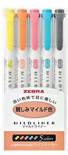 Zebra Mildliner Soft Color Double-Sided Highlighter Pens 25 Full Color Set(Standard 15 Color + New 10 Color) with Original Vinyl Pen Case by ZEBRA (Image #5)