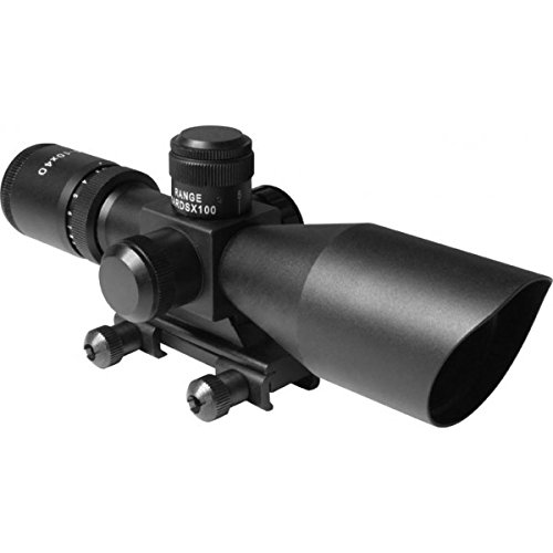US-DEALS 2.5-10X40 DUAL-ILLUMINATED SCOPE w/ CUT SUNSHADE / BDC / PICATINNY MOUNT / MIL-DOT RETICLE - All Orders Come with US-DEALS Souvenir