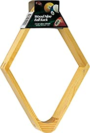 "Viper Billiard/Pool Table Accessory: 9-Ball Rack, Hardwood Diamond, Holds Standard 2-1/4"" Sized"