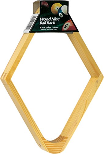 Ball Rack Holds - Viper Billiard/Pool Table Accessory: 9-Ball Rack, Hardwood Diamond, Holds Standard 2-1/4