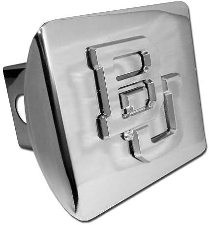 Elektroplate Baylor Bears Shiny Chrome BU Emblem NCAA Metal Trailer Hitch Cover Fits 2 Inch Auto Car Truck Receiver